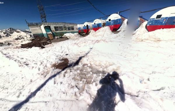 """Mt. Elbrus, """"Barrels"""" – 3D view"""
