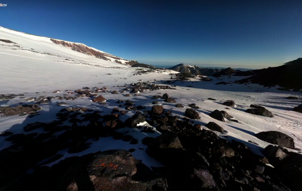 Mt. Elbrus, North Side – 3D view