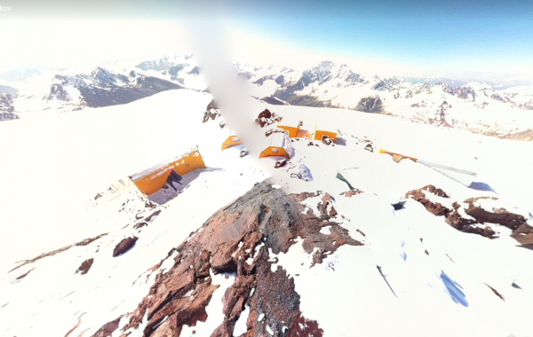 Mt. Elbrus, 4100m. Resque Camp – 3D view