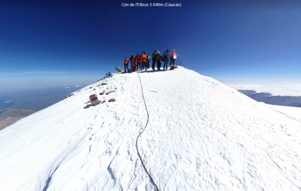 Mt. Elbrus, Summit – 3D view